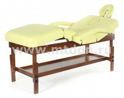Стационарный массажный стол FIX-0A (МСТ- 15Л) рама бук